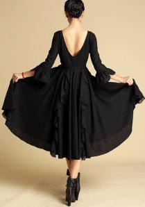 black gothic bridesmaid