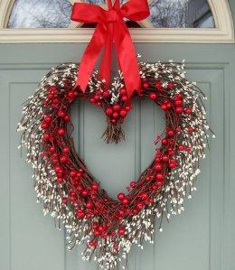 countryprim Valentineday wreath