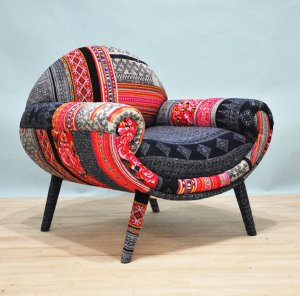 namedesignstudio smiley patchwork chair